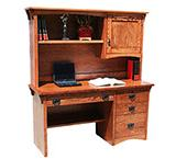 American Mission Oak Computer Desk w/ Hutch