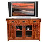 American Mission Oak Counter Height TV Console