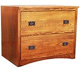 American Mission Oak Lateral File Cabinet