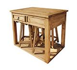 Mezcal Kitchen Island w/ Four Bar Stools