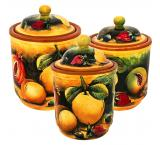 Round Fruit Kitchen Canister