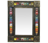Talavera Tile Mirror w/ Day of the Dead Tiles