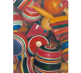 Wooden Toys Oil Painting on Canvas