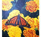 Monarch and Marigolds Oil Painting on Canvas