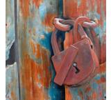 Lock and Door Oil Painting on Canvas
