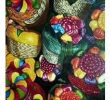 Mexican Baskets Oil Painting on Canvas