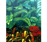 Tropical Garden Oil Painting on Canvas