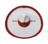 Red, White & Green Charro Fino Sombrero
