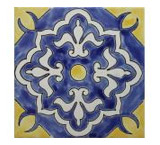 Marsella Azul Matte Finish Talavera Tile