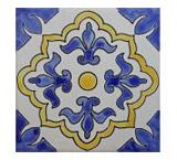 Marsella Blanca Matte Finish Talavera Tile