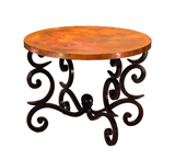 Round Fountain End Table