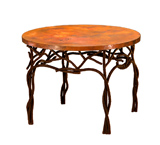 Round Twig End Table