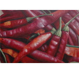 Red Peppers Oil Painting on Canvas