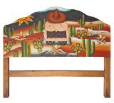Desert Siesta Carved Headboard