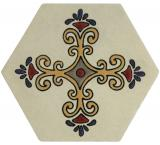 Cruz Florencia Hexagonal Tile