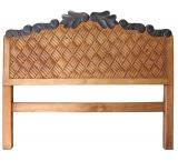 Natural Woven Carved Headboard