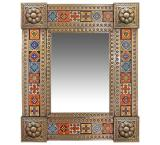Talavera Tile Mirror w/ Multi-colored Tiles