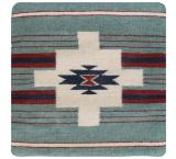 Wool Throw Pillow: Zapotec Design FL4