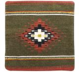 Wool Throw Pillow: Zapotec Design GR1