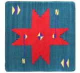 Wool Throw Pillow: Zapotec Design PA1T
