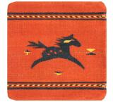 Wool Throw Pillow: Zapotec Design FLH