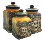 Day of the Dead Square Kitchen Canister