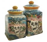 Square Day of the Dead Kitchen Canister