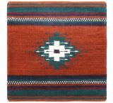 Wool Throw Pillow: Zapotec Design YS6L