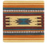Wool Throw Pillow: Zapotec Design MM2