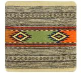 Wool Throw Pillow: Zapotec Design FS5
