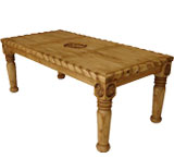 Hacienda 9-Star Dining Table w/ Rope Edge