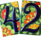 Talavera House Numbers: Spring Flowers