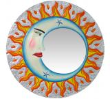 Painted Eclipse Mirror