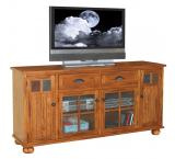 Rustic Oak 72 TV Console