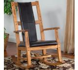 Rustic Oak Rocker w/ Cushion