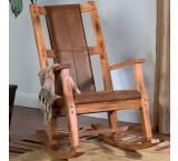 Rustic Oak Rocker w/ Microfiber Cushion