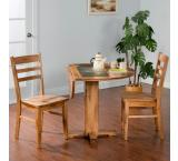 Rustic Oak Drop Leaf Table w/ Slate