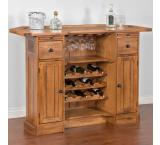 Rustic Oak Serving Bar