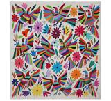 Flora & Fauna Square Otomi Tapestry