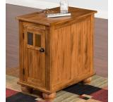 Rustic Oak Sliding Top Cabinet