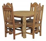 Round Julio Dining Set w/ Santana Chairs