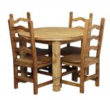 Round Julio Dining Set w/ Colonial Chairs