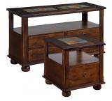 Santa Fe Inlaid Storage Tables