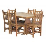 Trestle Dining Set w/ New Mexico Chairs