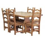 Trestle Dining Set w/ Colonial Chairs