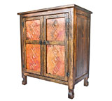 Isidro Cabinet w/ Copper Doors