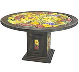 Large Round Fruit Dining Table