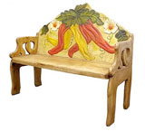 Chili Pepper Bench