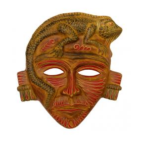 Clay Mask: Iguana Headdress