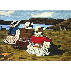 Wool Tapestry:Evening at the Lake